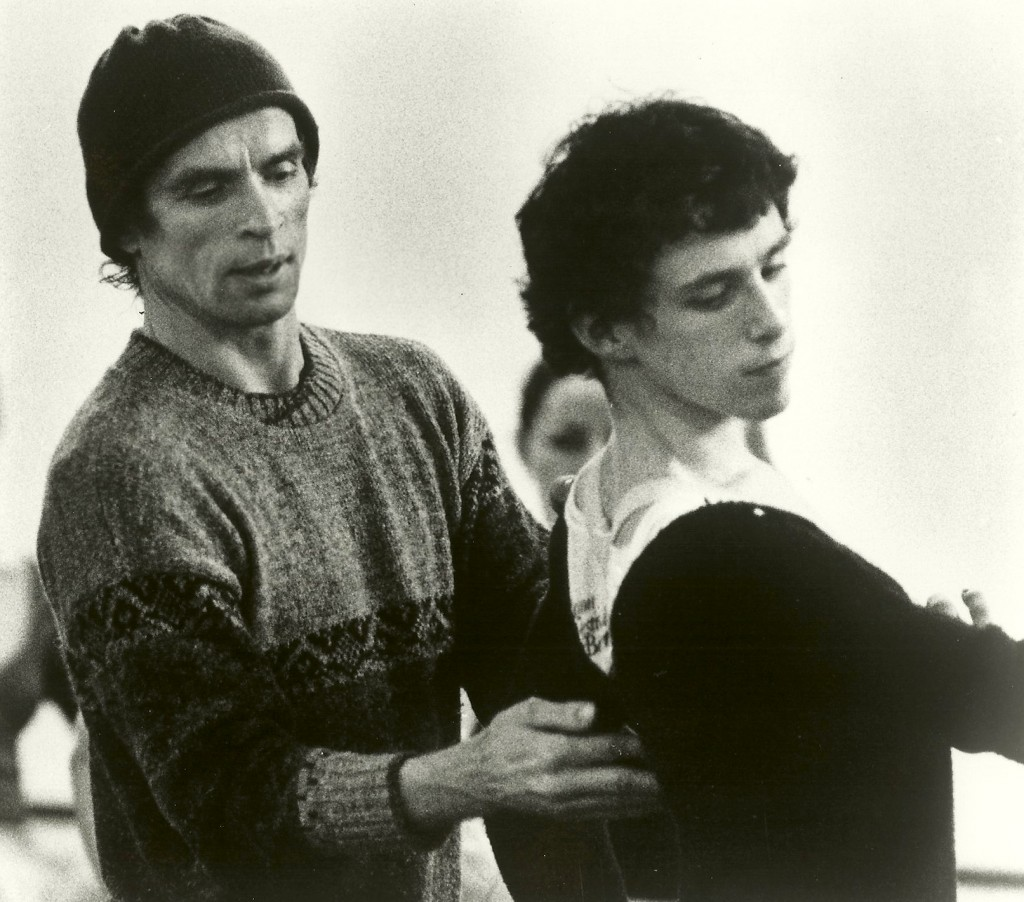 Devon Carney in rehearsal with Rudolf Nureyev