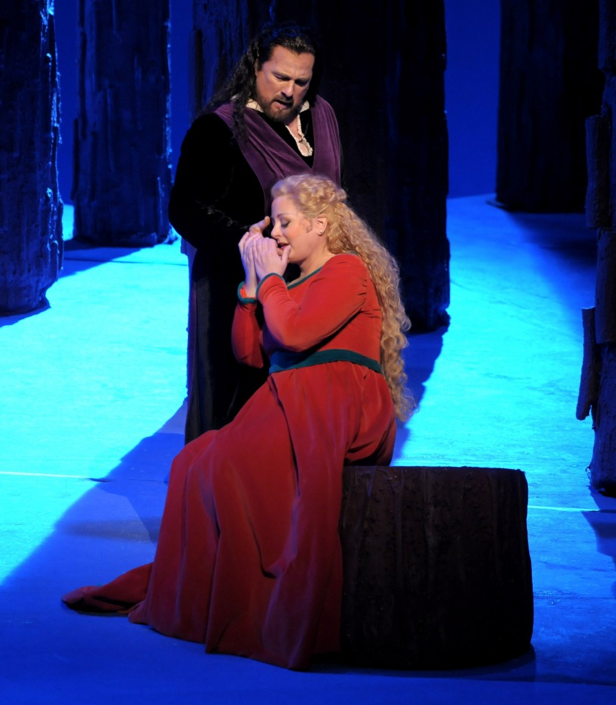 With Clifton Forbis in 'Tristan und Isolde'