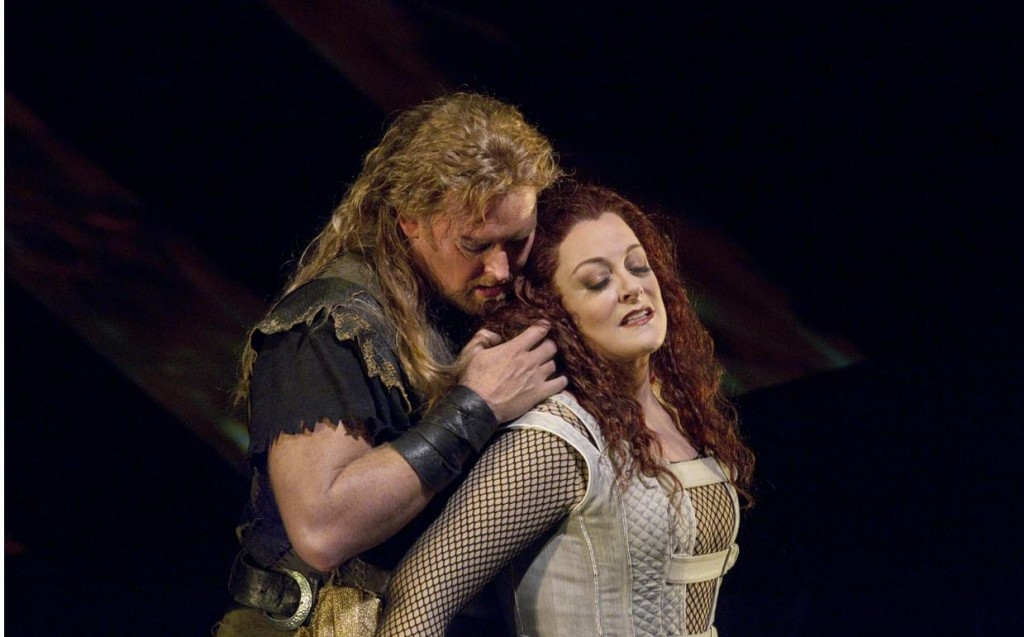 With Jay Hunter Morris in 'Siegfried' / Photo Ken Howard