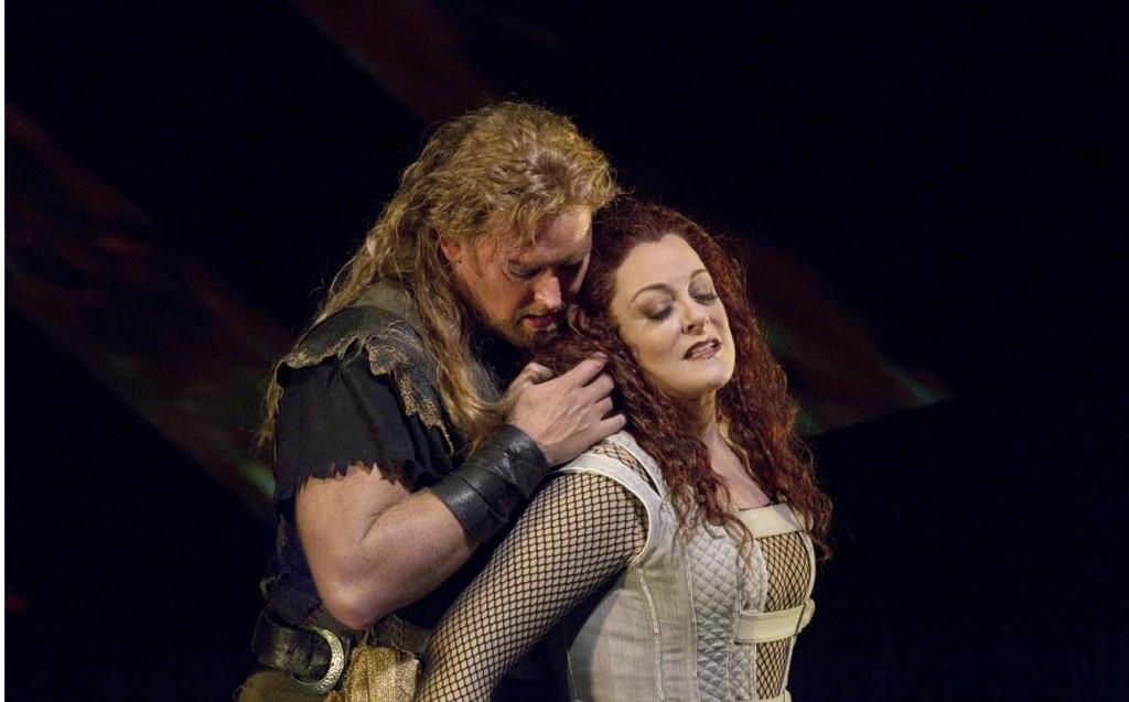 With Jay Hunter Morris in 'Siegfried' / Photo Ken Howard