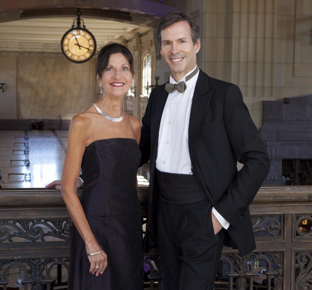 James, honorary chair, with Anna Allen, 2014 Nutcracker Ball Chair / Photo by Mark Braswell