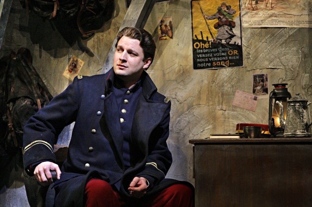 Baritone Liam Bonner sings the role of Lieutenant Audebert / Photo (this and above) by Michal Daniel