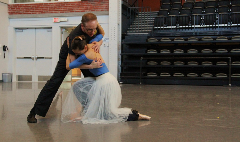 Devon Carney coaches Tempe Ostergren / Photo courtesy of Kansas City Ballet
