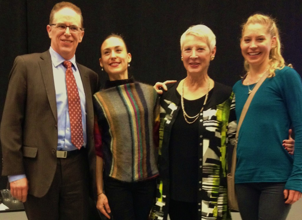 From left: KC Ballet Artistic Director Devon Carney, Tempe Ostergren, visiting choreographer Cynthia Gregory, Molly Wagner