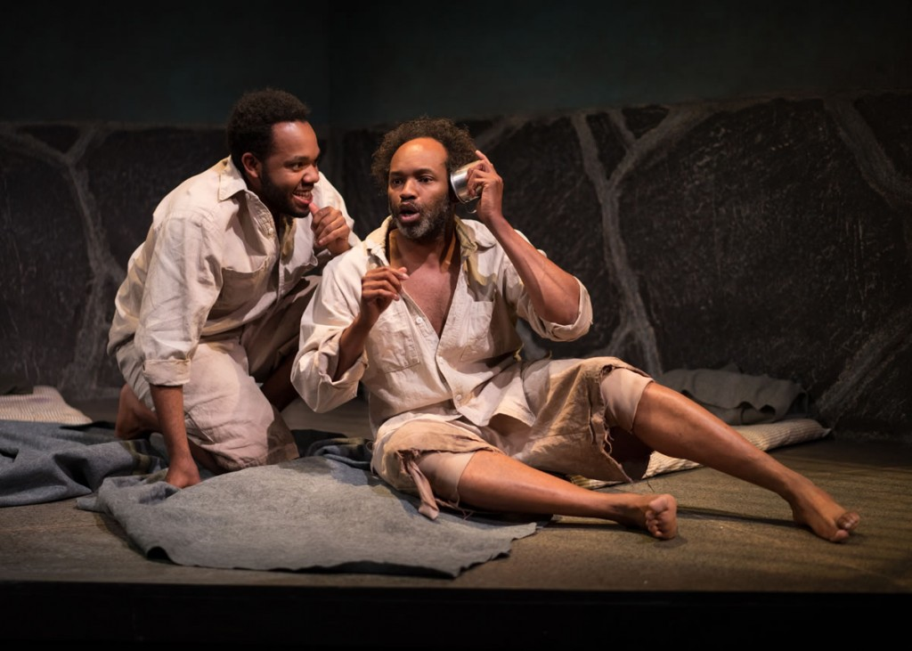 Damron, right, starred in the KC Actors Theatre production of 'The Island' in 2016 / Photo by Brian Paulette, KCAT