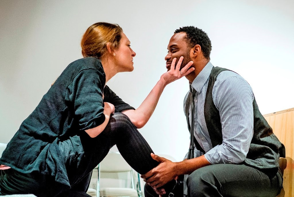 Laura Jacobs and Frank Oakley III star in 'Dutchman' / Photo courtesy KC MeltingPot Theatre