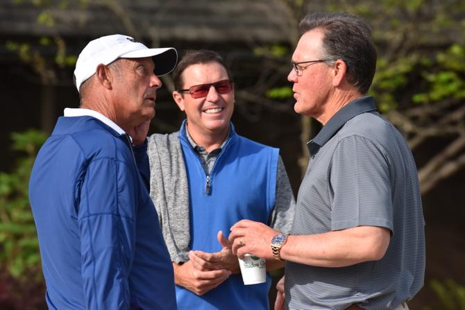 KANSAS CITY, MO - APRIL 17: The Kansas City Royals Charities annual golf tournament at Shadow Glenn golf course on April 17, 2017 in Olathe, Kansas. ( Photo by Jason Hanna )