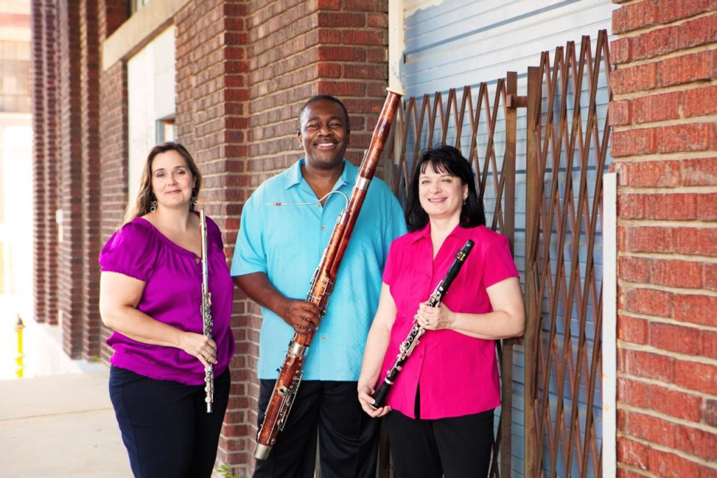 Shannon Finney, bassoonist Joshua Hood and clarinetist Jane Carl / Courtesy of Summerfest