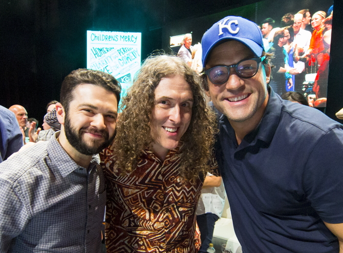 KANSAS CITY, MO - JUNE 24: Samm Levine, Al Yankovic and David Wain perform at the Big Slick Celebrity Party & Live Auction during the Big Slick Celebrity Weekend benefiting Children's Mercy Hospital of Kansas City on June 24, 2017 in Kansas City, Missouri. (Photo by Kyle Rivas/Getty Images) *** Local Caption *** David Wain, Al Yankovic, Samm Levine