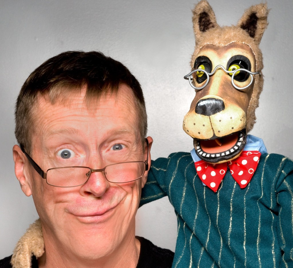 Paul Mesner and friend / Photo courtesy Paul Mesner Puppets