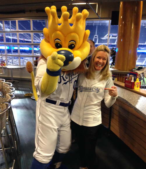 Fitzgearld with Sluggerrr Opening Day high res