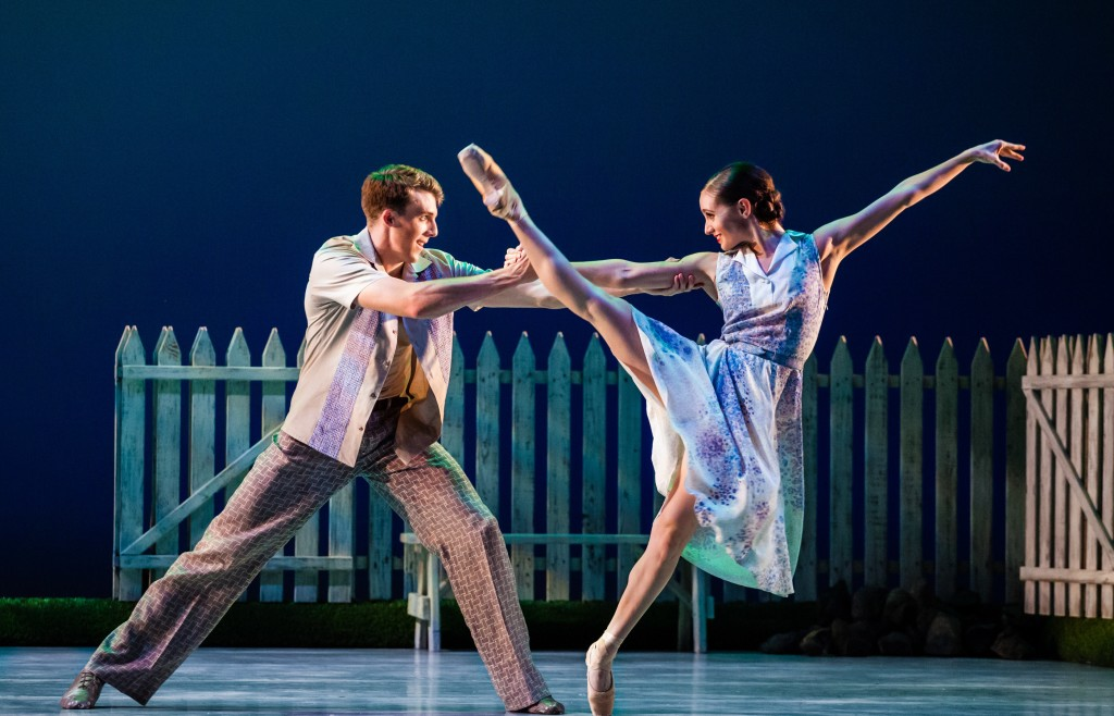 Arolyn Williams and Tyler Gum in Ballet West's performances of The Lottery. Photo by Luke Isley.