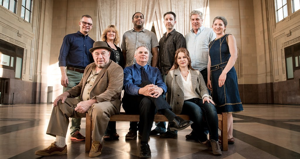 KC Actors Theatre: (Front row) Victor Raider-Wexler, Gregg Markowski and Cinnamon Schultz (back row) Darren Sextro, Jan Rogge, Alex Murphy, Brian Paulette, John Rensenhouse and Sarah M. Oliver